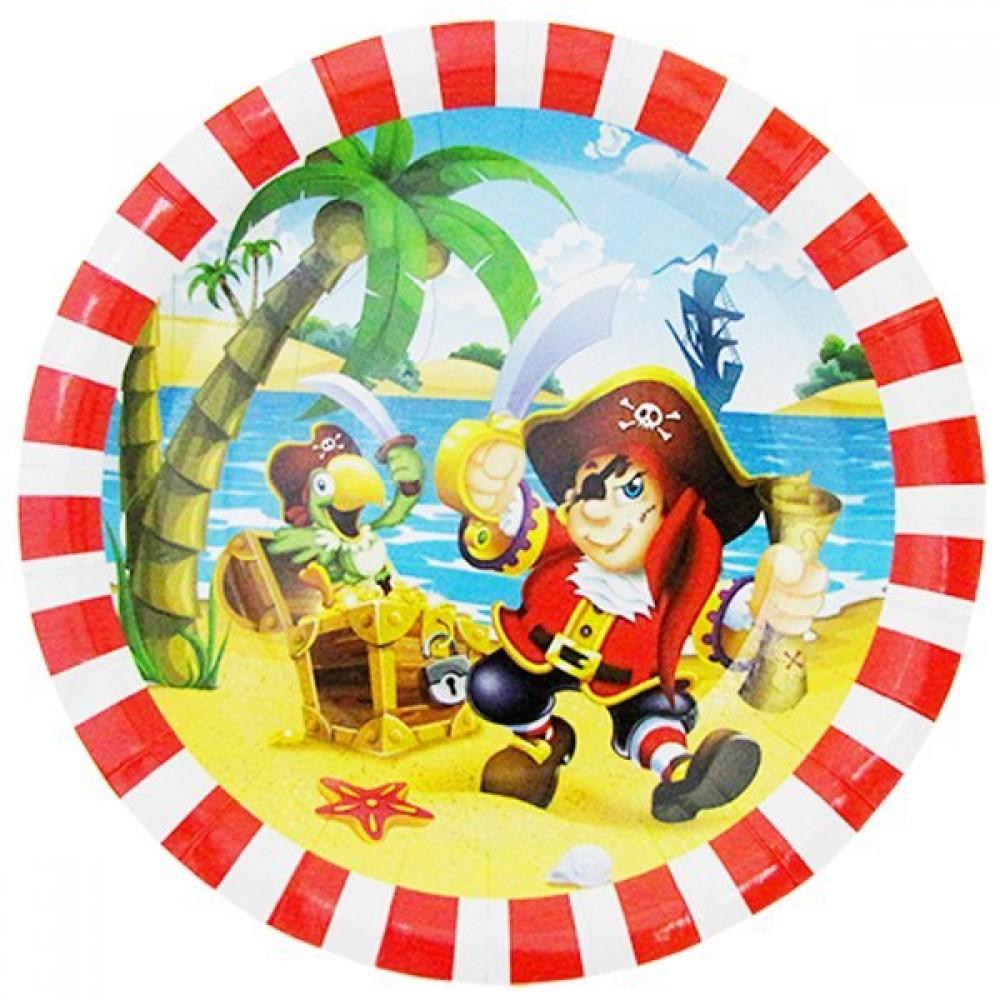 Тарелка бумажная ламинированная Веселый пират