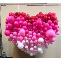 Большое сердце из разнокалиберных шаров