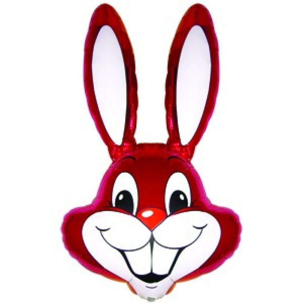 Шар с гелием фольга Фигура Кролик малиновый 90*58 см