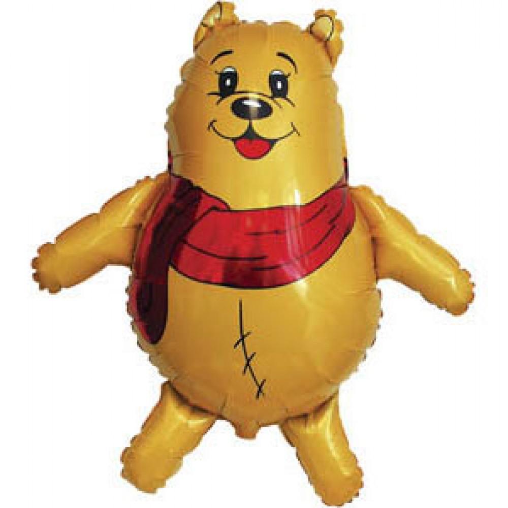 Шар с гелием фольга Фигура Медведь в шарфе 85*83 см