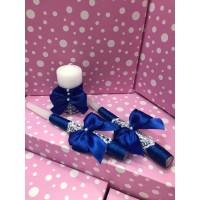 Свечи Семейный очаг синие