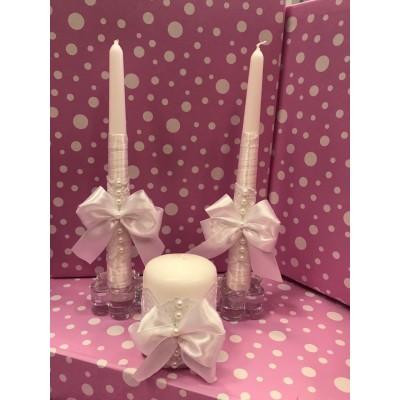 Свечи Семейный очаг белые