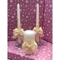 Свечи Семейный очаг кремовые