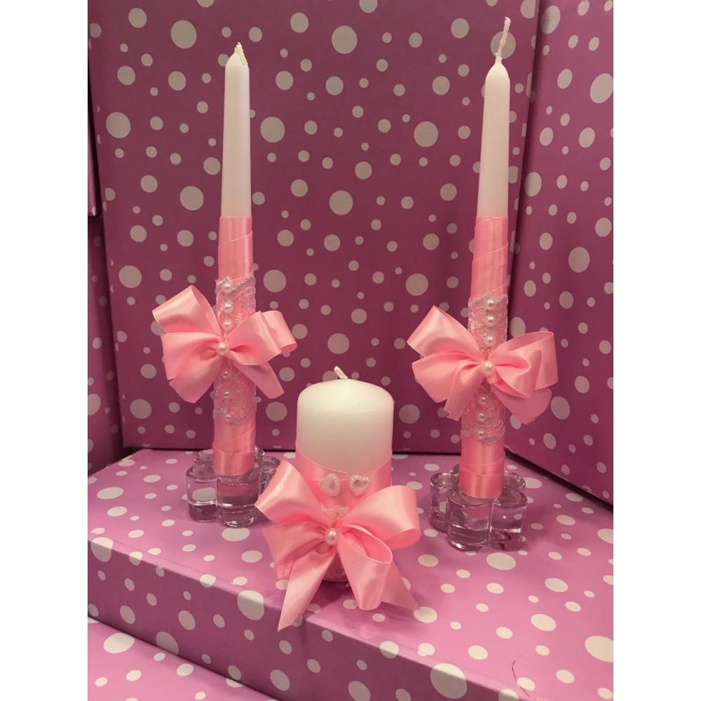 Свечи Семейный очаг розовые
