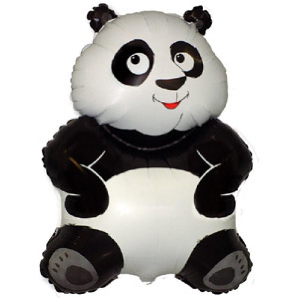 Шар с гелием фольга Фигура Большая Панда 83*56 см