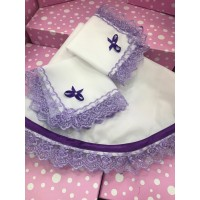 Салфетки для дарения фиолетовые