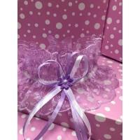 Свадебная подвязка фиолетовая