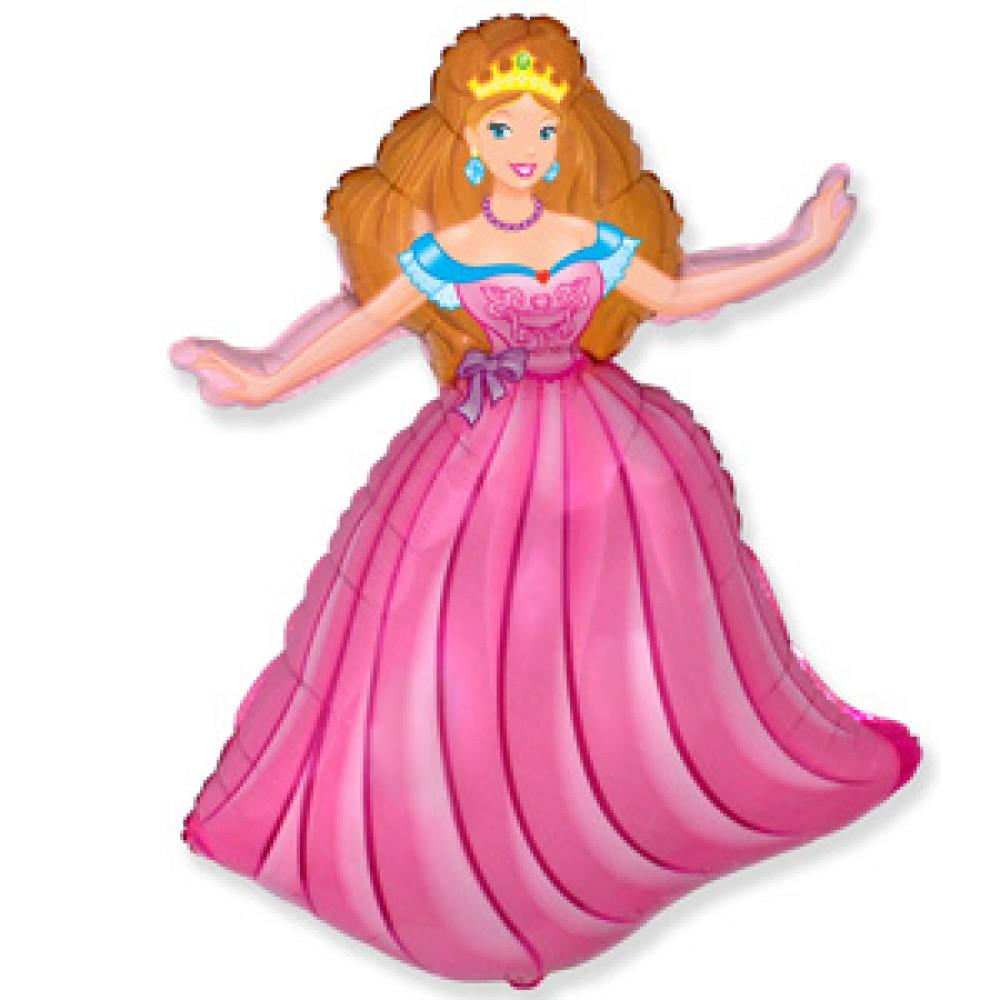 Шар с гелием фольга Фигура Принцесса 98*68 см
