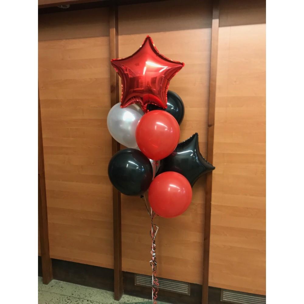 Сет из красных, черных и белых шаров